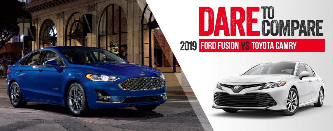 2019 Ford Fusion Vs Toyota Camry
